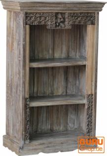 Kleines Rustikales Bücherregal, Massivholz, Vintage look - Modell 33