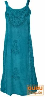 Besticktes indisches Sommerkleid Boho chic - türkis