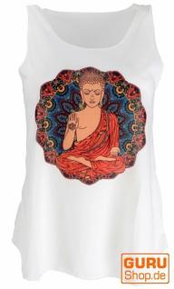 Tanktop mit farbigem Ethnodruck - creme / Buddha