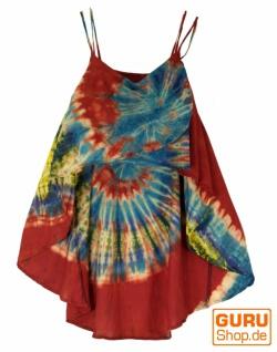 Weite Batik Tunika Hippie chic, Strandtunika - rot