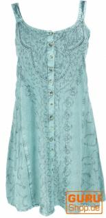 Besticktes indisches Boho Kleid, Hippie chic Minikleid - aqua/Design 25