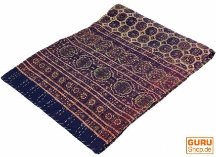 Quilt, Steppdecke, Tagesdecke Bettüberwurf, Besticktes Tuch, Indischer Bettüberwurf, Tagesdecke - Muster 9