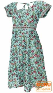 Boho Minikleid, luftiges Sommerkleid - türkis