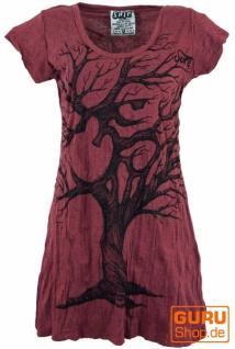 Sure Long Shirt, Minikleid OM Tree - bordeaux