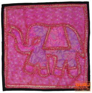 Patchwork Kissenhülle, Dekokissen Bezug aus Rajasthan, Einzelstück - Muster 15