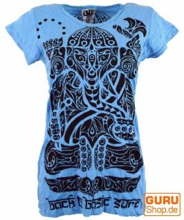 Sure T-Shirt tribal Ganesh - hellblau