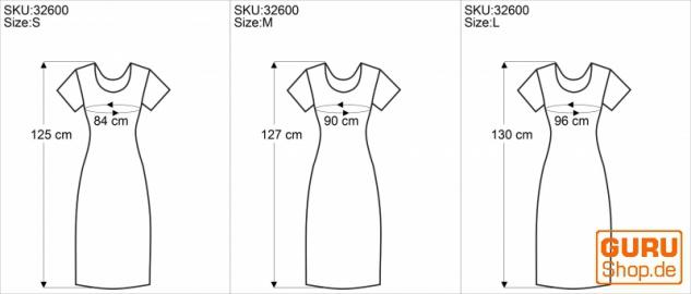 Langes Sommerkleid, Boho chic Leinenkleid - schwarz - Vorschau 5