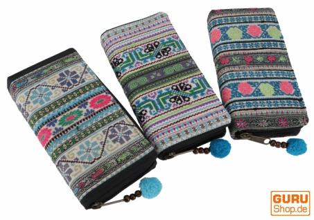 Besticktes Ethno Portemonnaie Chiang Mai, Boho Geldbeutel - blau/bunt - Vorschau 1