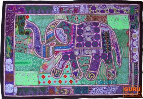 Indischer Wandteppich Patchwork Wandbehang, Einzelstück 150*100 cm - Muster 11