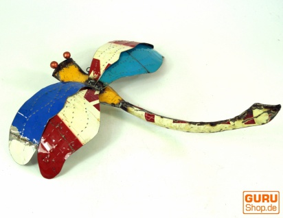 Libelle aus Metall, Upcycling Libelle - Design 1 - Vorschau 3