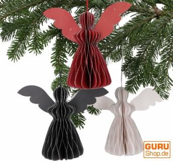 3`er Set Weihnachtsschmuck, Weihnachts Deko aus Wabenpapier - Engel