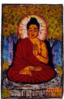 Handgemaltes Batikbild, Wandbehang, Wandbild - Buddha 87*67 cm