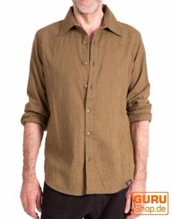 Langärmliges Hemd aus Bio-Baumwolle / Chapati Design - olive