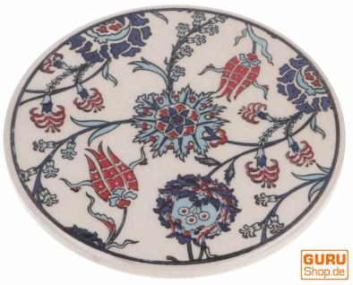 Orientalischer Keramikuntersetzer, runder Untersetzer mit Mandala Motiv - Muster 8
