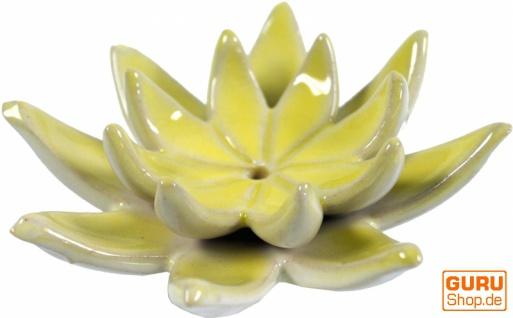 Räucherstäbchenhalter Lotus aus Keramik gelb - Modell 21