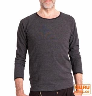 Pullover, Langarmshirt aus Bio-Baumwolle / Chapati Design - black