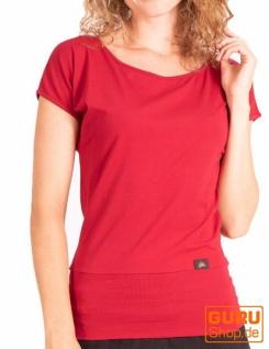 T-Shirt aus Bio-Baumwolle / Chapati Design - burgundy