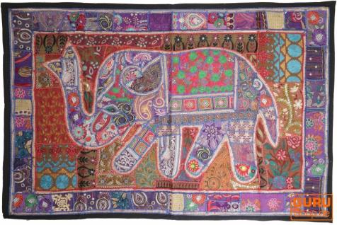 Indischer Wandteppich Patchwork Wandbehang, Einzelstück 150*100 cm - Muster 30