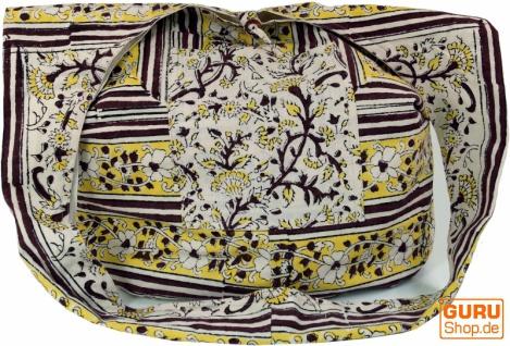 Sadhu Bag, Umhängetasche, Blockdruck Hippie Schultertasche - weiß/grün/braun