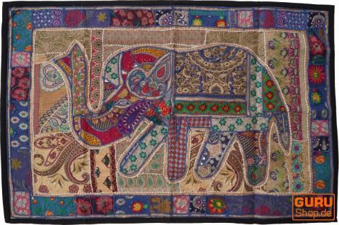 Indischer Wandteppich Patchwork Wandbehang, Einzelstück 150*100 cm - Muster 46