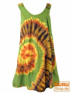 Batik Tunika, Hippie chic, Strandkleid - grün