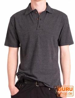 Poloshirt, Hemd aus Bio-Baumwolle / Chapati Design - black
