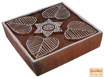Indischer Textilstempel, Stoffdruckstempel, Blaudruck Stempel, Holz Model - 10*10 cm Mandala 4