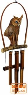 Exotisches Bambus Klangspiel - Windspiel `Eule`