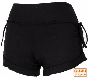 Goa Pantys, Psytrance Hotpants, Bikini Shorts - schwarz
