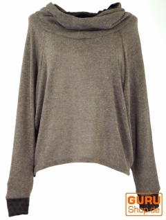 Hoody, Sweatshirt, Pullover, Kapuzenpullover - braun