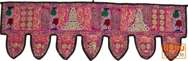 Orientalischer Wandbehang, indischer Toran, Wimpel Wandteppich, Wanddekoration, Tür Deko Einzelstück 150*45 cm - Design 9