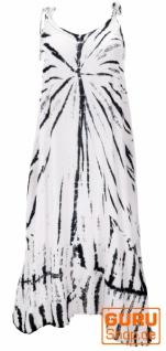 Boho Batikkleid, Strandkleid, Sommerkleid in Übergröße - weiß