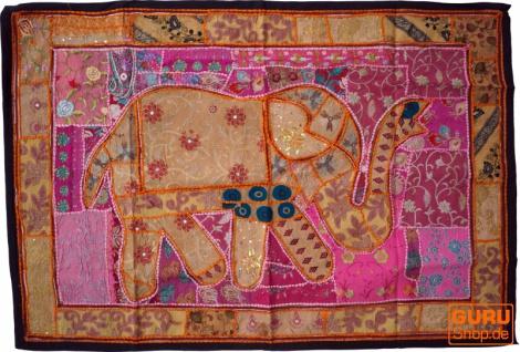 Indischer Wandteppich Patchwork Wandbehang, Einzelstück 150*100 cm - Muster 59