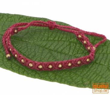 Ethno Perlenarmband, Makrameee Armband - rot