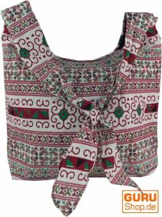 Sadhu Bag, Schulterbeutel, Hippie Tasche Chiang Ma - weiß/rot - Vorschau 1