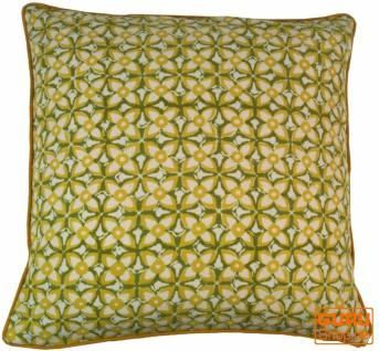 Kissenbezug Blockdruck, Kissenhülle Ethno, Dekokissen Bezug mit traditionellem Design - Muster 10