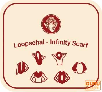 Weicher Loop Schal / Stola, Magic Loopschal, Weste - blau/violett - Vorschau 2