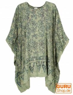 Poncho, Tunika, Strandkleid , Batik Kaftanf, Damen Übergröße - grün