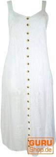 Besticktes Boho Sommerkleid, indisches Hippie Trägerkleid, weiß - Design 17