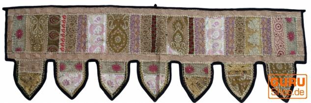 Orientalischer Wandbehang, indischer Toran, Wimpel Wandteppich, Wanddekoration, Tür Deko Einzelstück 150*45 cm - Design 14