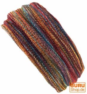 Magic Hairband, Dread Wrap, Schlauchschal, Stirnband, Mütze - Loopschal regenbogen