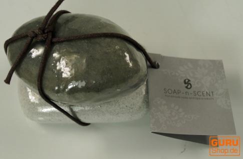 Seifenset Soap on the Rock, 90 g Seife auf Bimsstein, Fair Trade - Black Rice - Vorschau 3