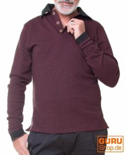 Pullover aus Bio-Baumwolle / Chapati Design - burg/black