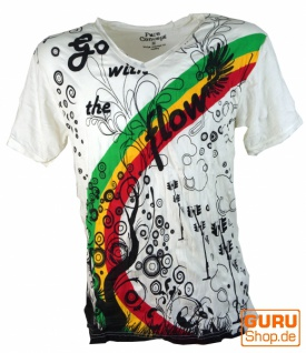 Pure T-Shirt go with the flower - weiß