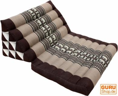 Thaikissen, Dreieckskissen, Kapok, Tagesbett mit 1 Auflage - Elefant braun