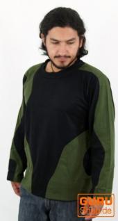 Goa Sweatshirt, Hoody schwarz olive