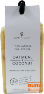 Handgemachte Getreideseife, Haferflocken - Kokos, 100 g, Fair Trade