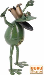 Deko Frosch aus Metall - Design 3 - Vorschau 2