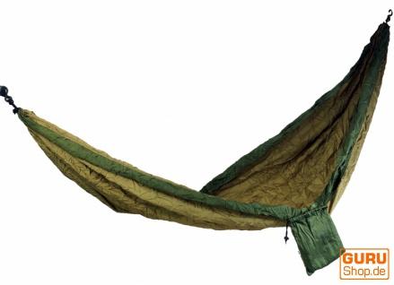 Reisehängematten aus Fallschirmstoff - grün