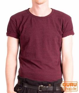T-Shirt aus Bio-Baumwolle / Chapati Design - wine